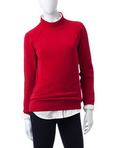 Jeanne Pierre Red Pull-overs Sweaters