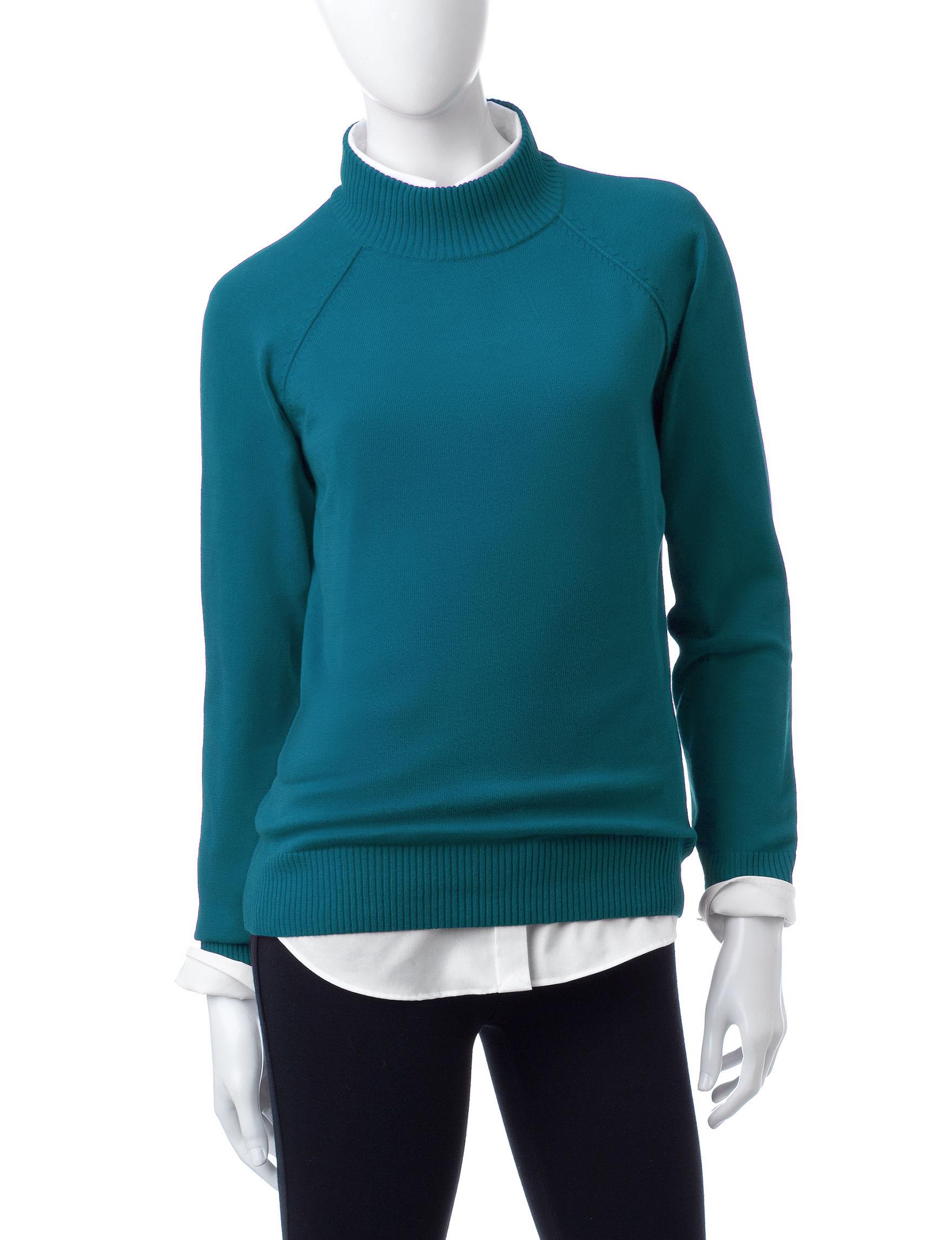 Jeanne Pierre Green Pull-overs Sweaters