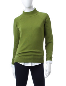 Jeanne Pierre Olive Pull-overs Sweaters