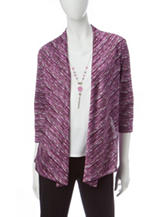 Alfred Dunner Spacedye Layered-Look Top