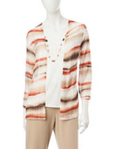 Alfred Dunner Biadere Layered-Look Top