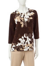Alfred Dunner Floral Print Top