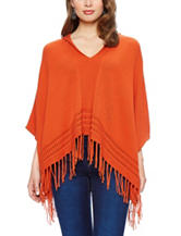 Skyes The Limit Fringe Poncho Sweater