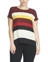 Chaus Stripe Print Top