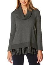 Rafaella Fringe Trim Sweater