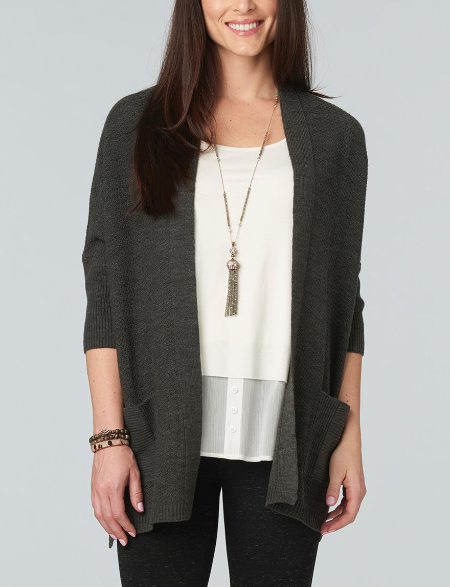 Democracy Charcoal Cardigans Sweaters Strapless