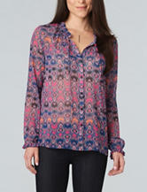Democracy Mixed Print Woven Top