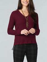 Democracy Textured Lace Hem Sweater