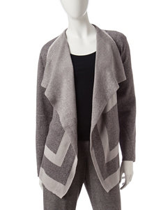 Alfred Dunner Metallic Accented Cardigan