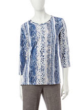 Alfred Dunner Animal Print Knit Top
