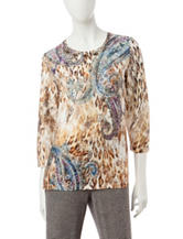 Alfred Dunner Paisley Print Knit Top