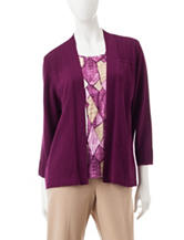 Alfred Dunner Layered-Look Top