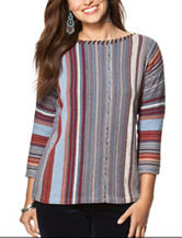 Chaps Striped Knit Sweater