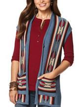 Chaps Southwestern Print Sweater Vest