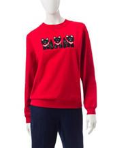 Rebecca Malone Scottie Fleece Knit Sweater