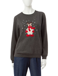 Rebecca Malone Reindeer Fleece Sweater