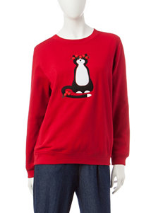 Rebecca Malone Christmas Cat Fleece Sweater