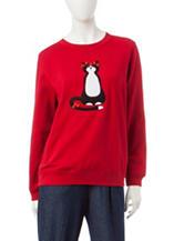 Rebecca Malone Christmas Cat Fleece Sweater