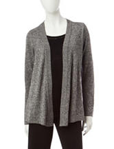 Rebecca Malone Marled Layered-Look Sweater