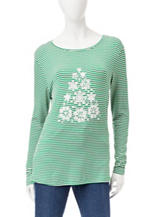 Rebecca Malone Striped Christmas Tree Top