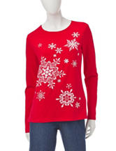 Rebecca Malone Jeweled Snowflake Top