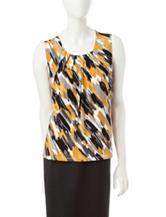 Kasper Multicolor Paintbrush Print Top