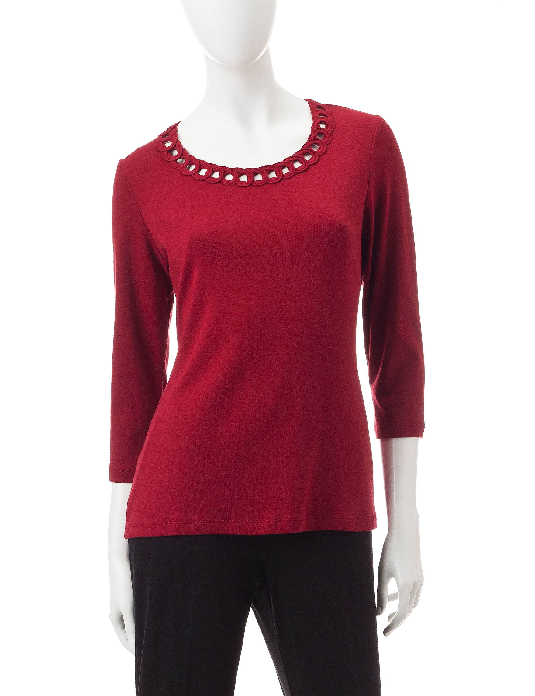 Pebble Beach Polo >> Rebecca Malone Braided Knit Top | Stage Stores