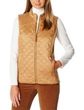 Rafaella Iridescent Quilted Puffer Vest