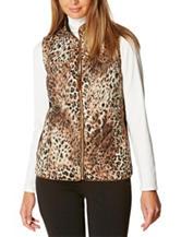 Rafaella Cheetah Print Puffer Vest