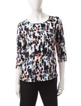 Notations Multicolor Abstract Print Top