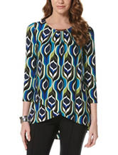 Rafaella Abstract Print Knit Top