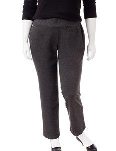 Kasper Plus-size Grey Tapered Pants