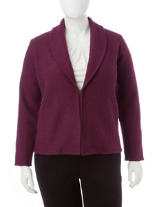 Kasper Plus-size Burgundy Cardigan
