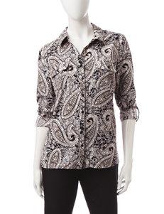 Notations Grey Shirts & Blouses