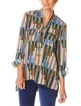 Rafaella Abstract Print Knit Top