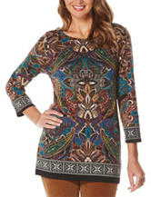 Rafaella Paisley Print Knit Top