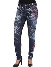 Seven7 Paint Splatter Skinny Jeans