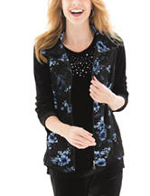Silverwear Quilted Floral Print Vest