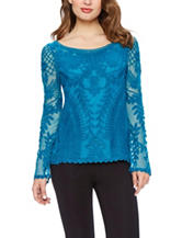 Skyes The Limit Lace Woven Top