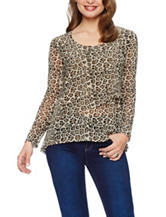 Skyes The Limit Leopard Print Top