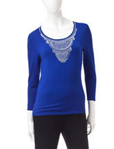 Ruby Road Embellished Top