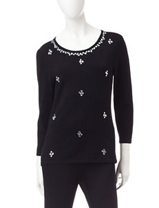 Ruby Road Black Pull-overs Sweaters