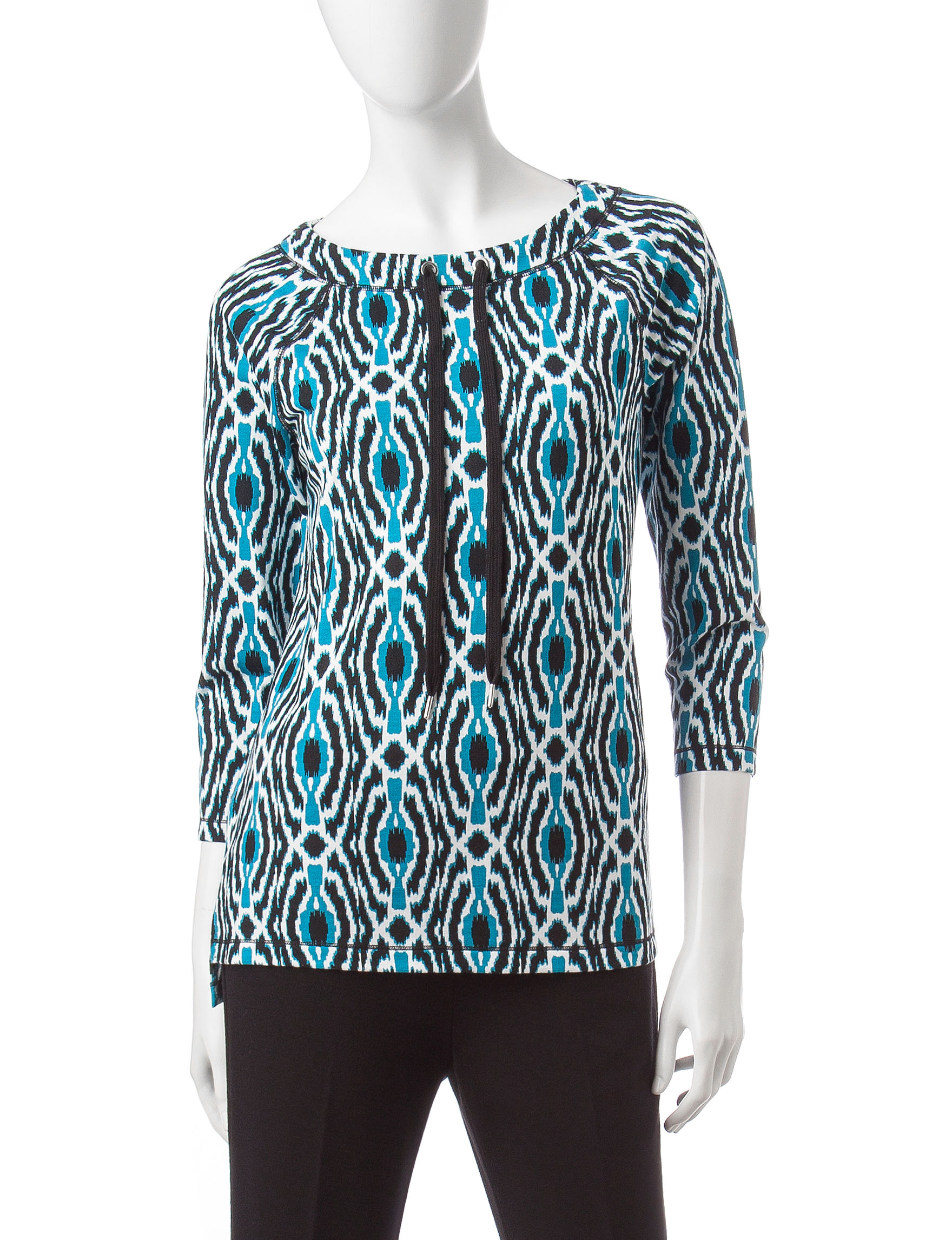 Ruby Road Teal Shirts & Blouses