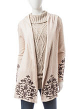 Democracy Embroidered Knit Cardigan
