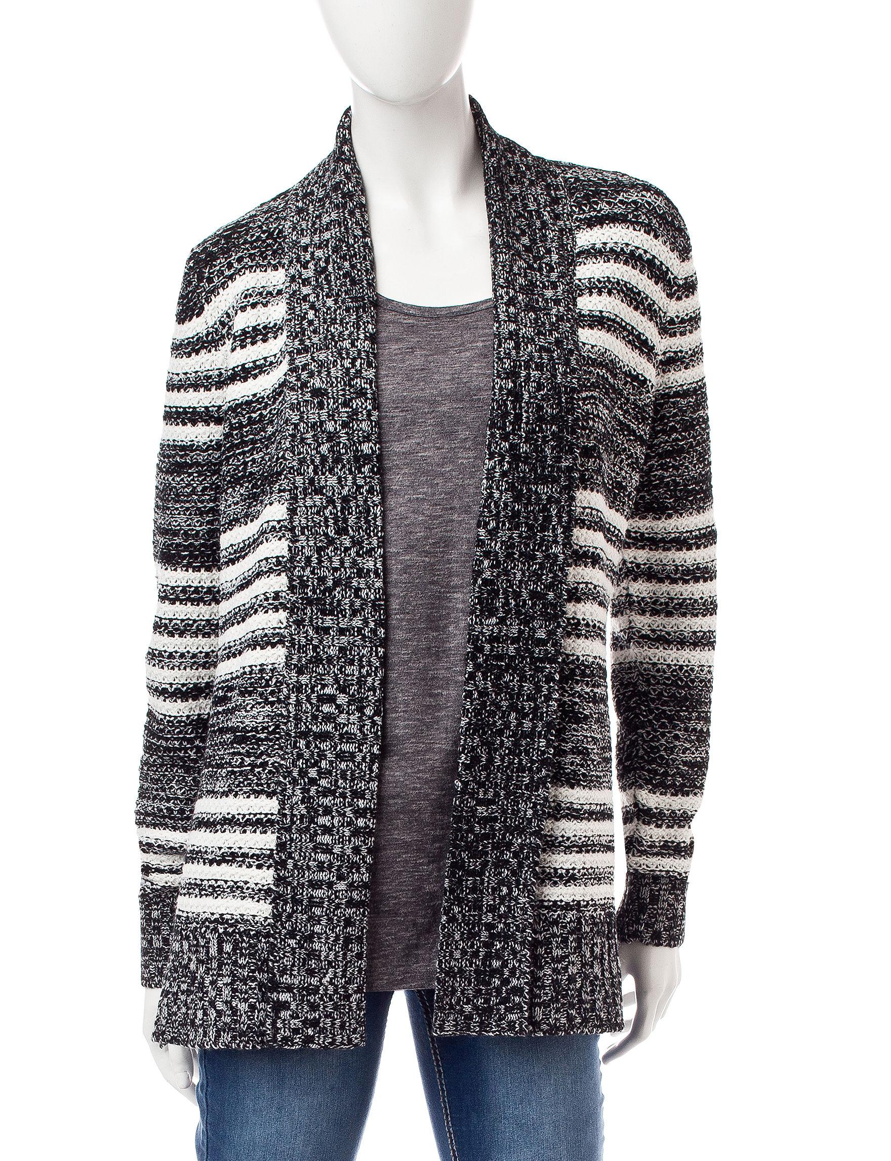 Fresh White / Black Cardigans Sweaters