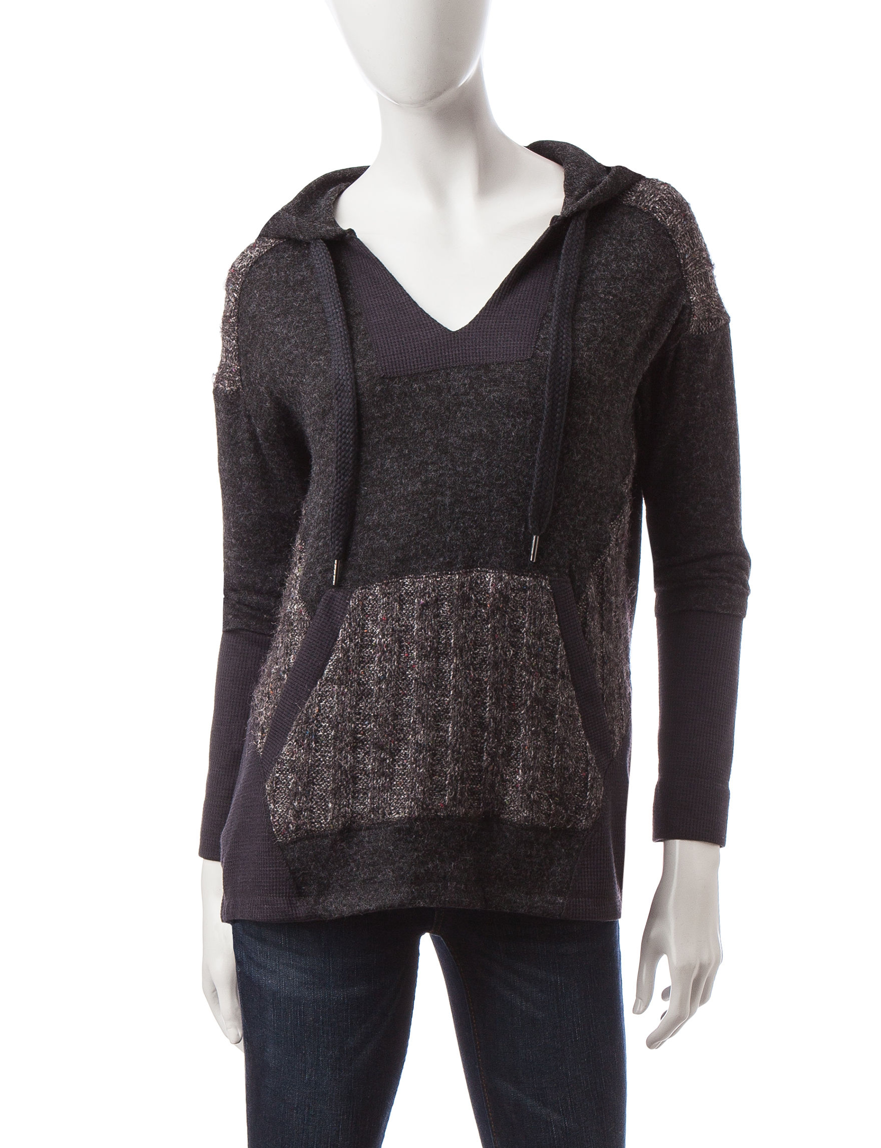 Democracy Charcoal Pull-overs Sweaters