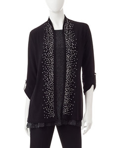 Chaus Embellished Knit Jacket