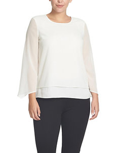 Chaus Herringbone Double Layer Top