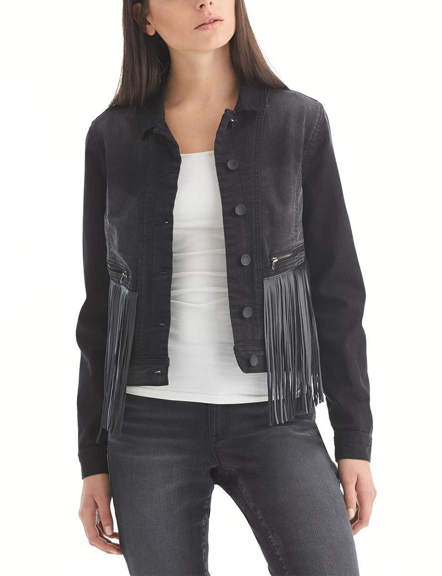 Nine West Jeans Black Denim Jackets