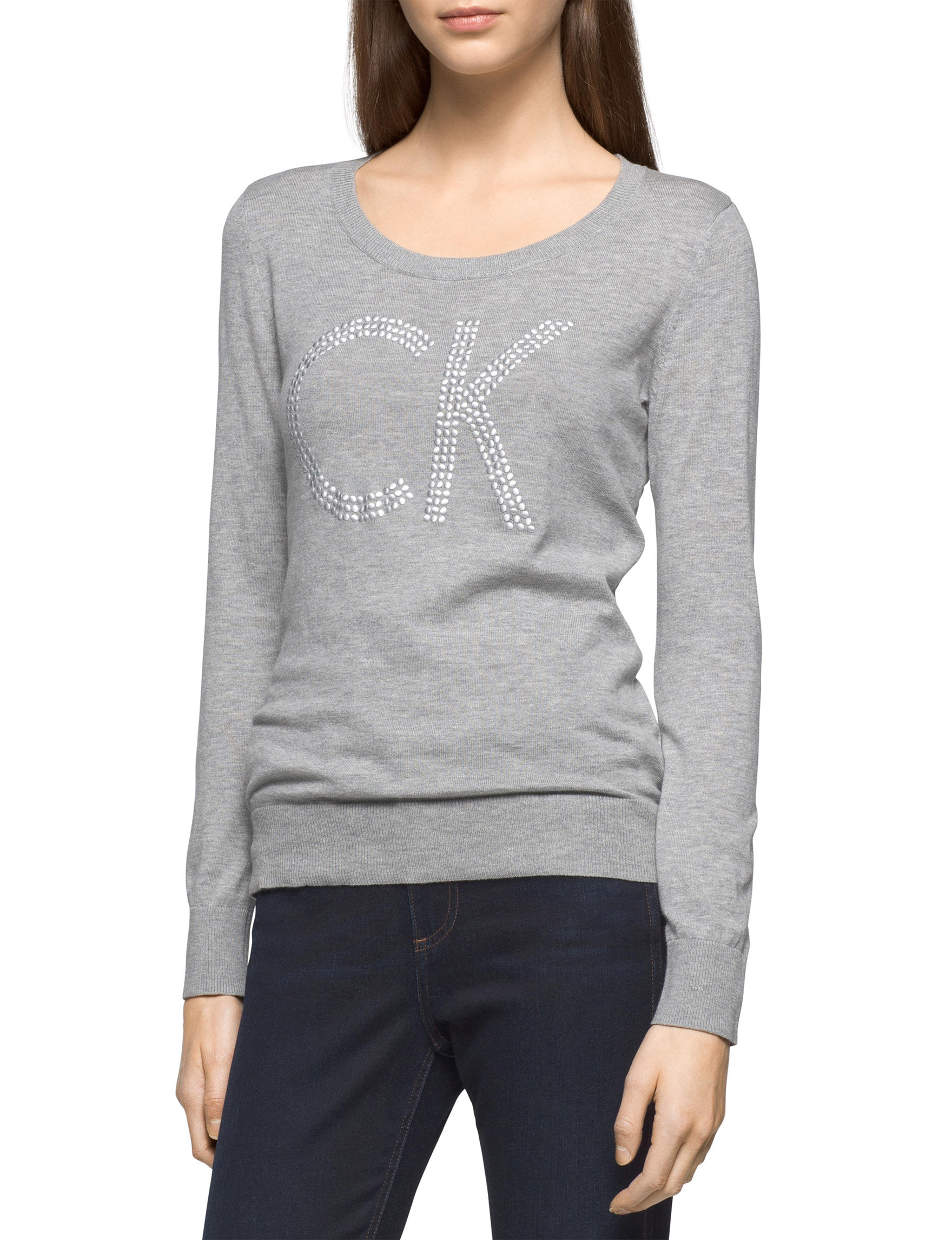 Calvin Klein Jeans Grey Pull-overs Sweaters
